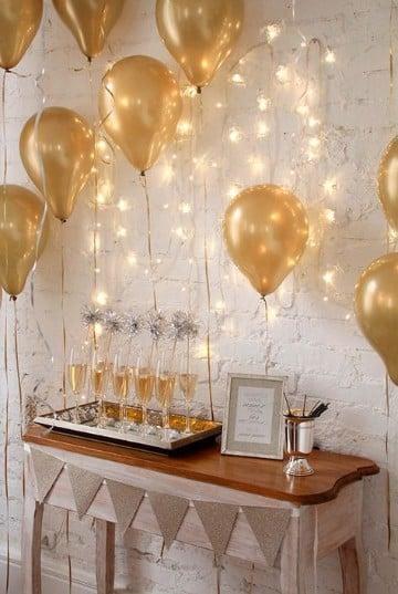 decoracion fiesta fin de año en casa sencilla