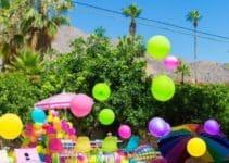 Una ideal decoracion fiesta hawaiana en piscina