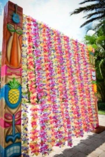 decoracion hawaiana para 15 años entrada