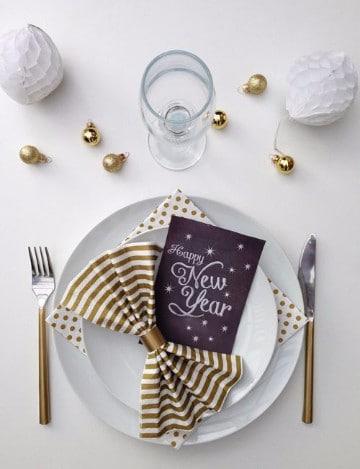 decoracion para año nuevo 2017 para mesa