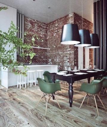 diseños de mesas de madera para comedor moderno
