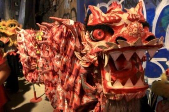 dragon para celebracion año nuevo chino