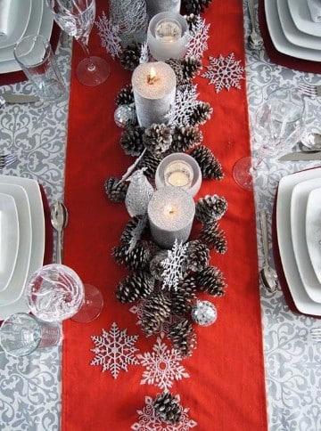 fotos de mesas de navidad elegantes