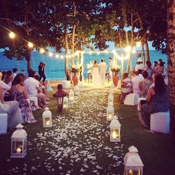 ideas de bodas en la playa en la noche