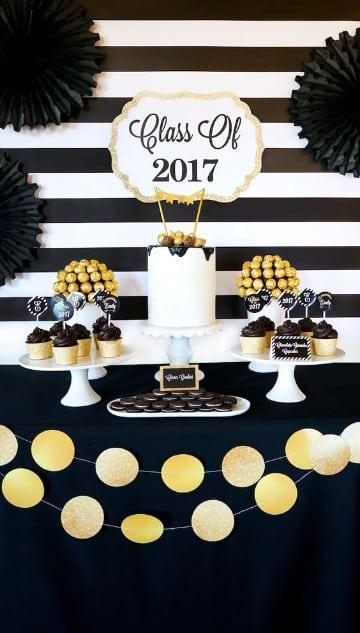 ideas para fiesta de graduacion universitaria con dulces