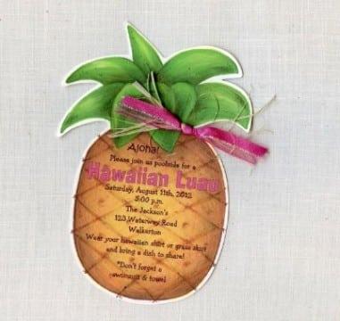 invitaciones fiesta hawaiana creativa