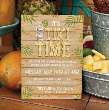 invitaciones fiesta hawaiana sencilla