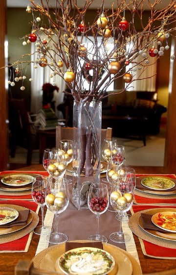 mesas de navidad elegantes 2017