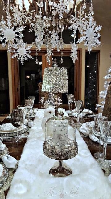 mesas de navidad elegantes y modernas