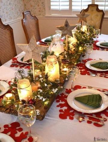 mesas de navidad elegantes y rusticas