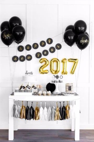 moderna decoracion para año nuevo 2017