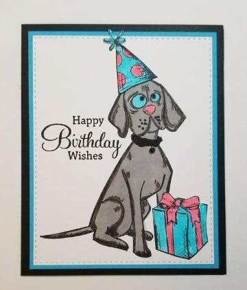 tarjetas de cumpleaños con perros a mano