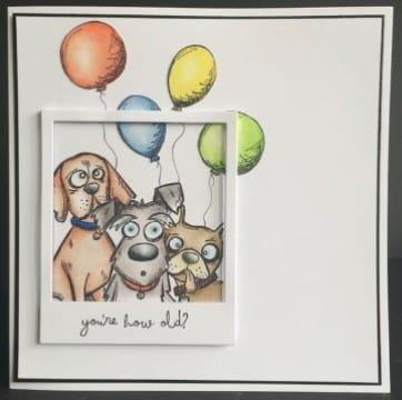 tarjetas de cumpleaños con perros creativas
