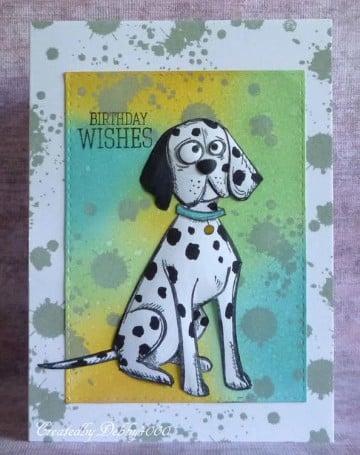 tarjetas de cumpleaños con perros dalmatas