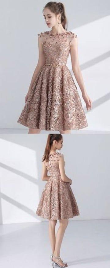 vestidos de graduacion juveniles elegantes