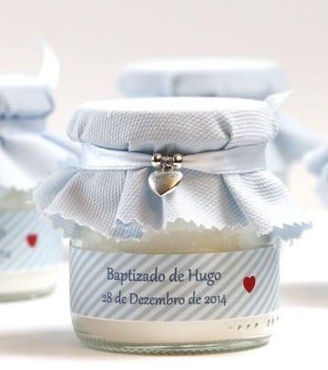 adornos para bautismo de varon frasco