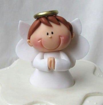 adornos para bautismo de varon porcelana angel