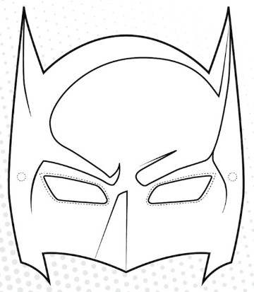 antifaces de superheroes para imprimir de batman