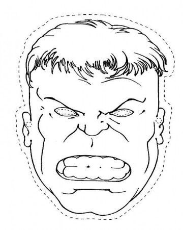 antifaces de superheroes para imprimir de hulk