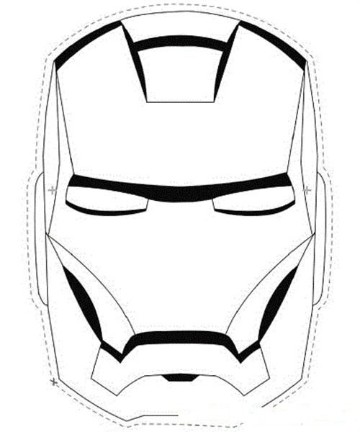 antifaces de superheroes para imprimir de iron man