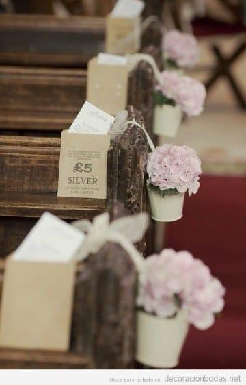 arreglos de flores para boda en iglesia sencillo