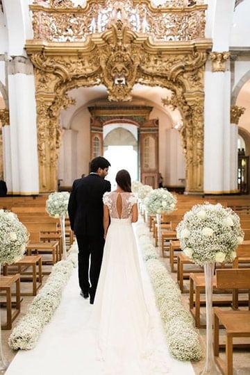 arreglos de iglesia para matrimonio con pedestal
