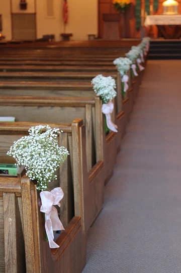 arreglos de iglesia para matrimonio sencillos