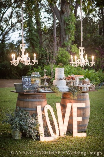 arreglos para boda en jardin mesa