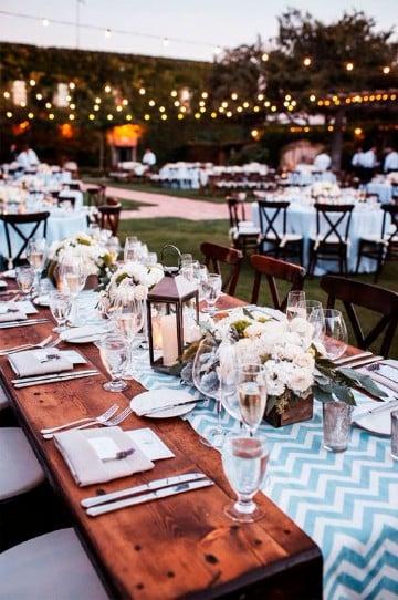 arreglos para boda en jardin minimalista