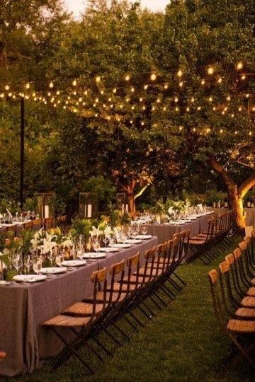 arreglos para boda en jardin noche