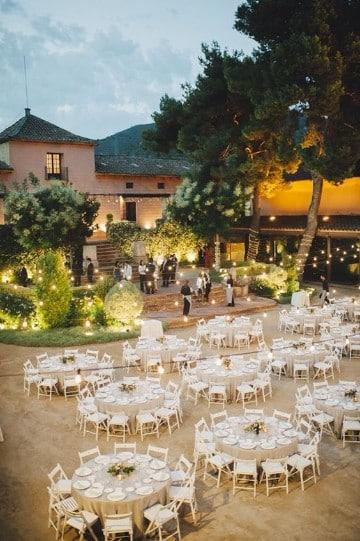 arreglos para bodas en salon aire libre