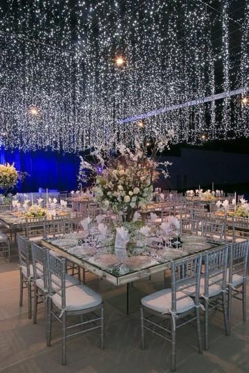 arreglos para bodas en salon con luces