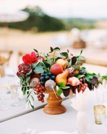 centros de mesa con frutas naturales para reuniones
