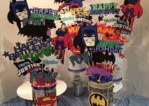 Sencillos y singulares centros de mesa de los super heroes