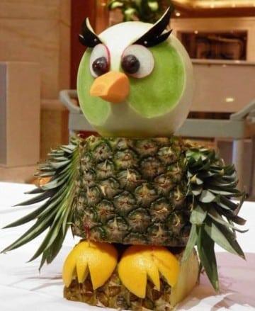 como hacer decoraciones con frutas paso a paso