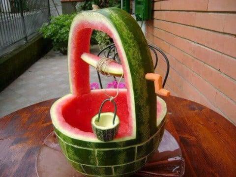como hacer decoraciones con frutas tallado