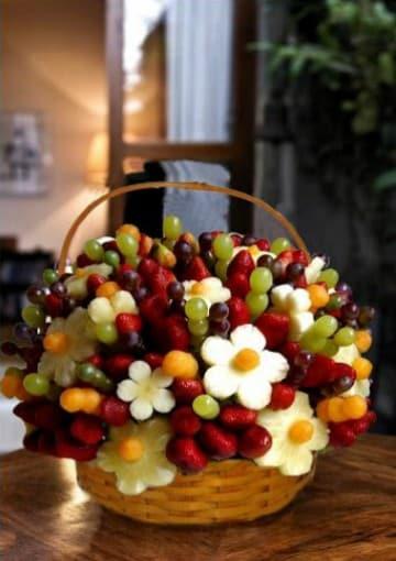como hacer decoraciones con frutas y verduras