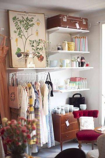 como organizar una tienda de ropa vintage