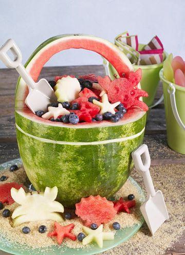 cortes de frutas para decorar mesas