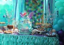 Decoración divertida en cumpleaños en piscina para niños
