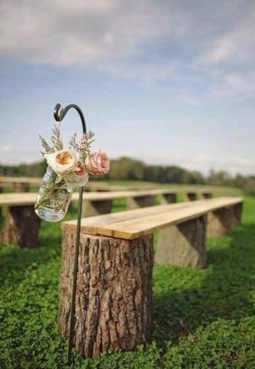 decoracion de bodas rusticas butaca