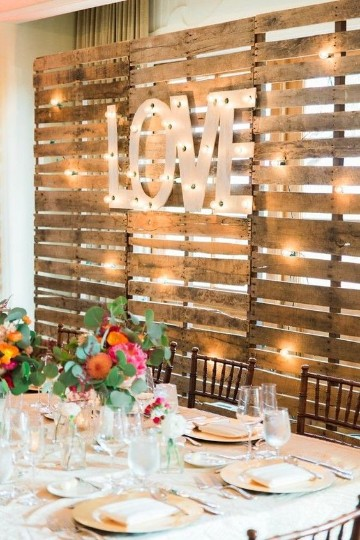decoracion de bodas rusticas pared
