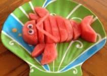 Diseños basicos para una decoracion de frutas para niños