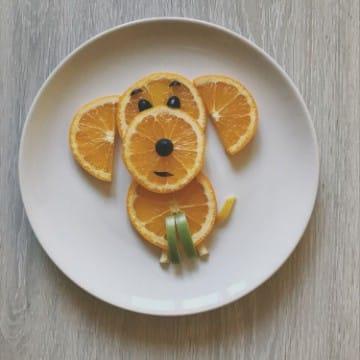 decoracion de frutas para niños creativa