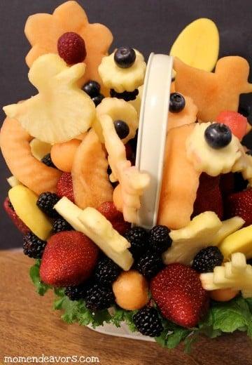 decoracion de frutas paso a paso para cumpleaños