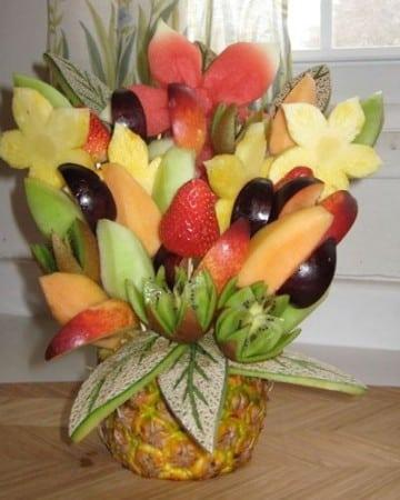 decoracion de frutas paso a paso para regalar