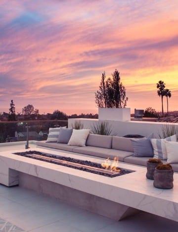 decoracion de terrazas modernas en techo