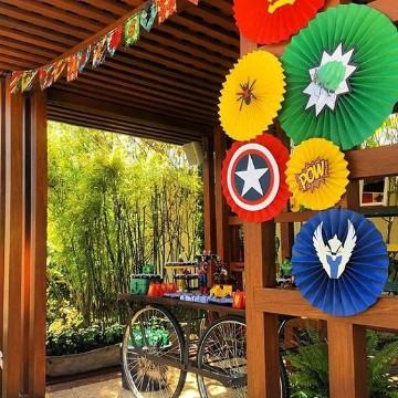 Grandiosa decoracion para cumplea os de avengers centros - Cumpleanos al aire libre ...