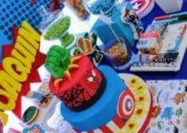 Grandiosa decoracion para cumpleaños de avengers