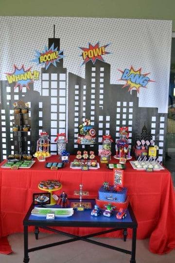 Matrimonio Tema Marvel : Grandiosa decoracion para cumpleaños de avengers